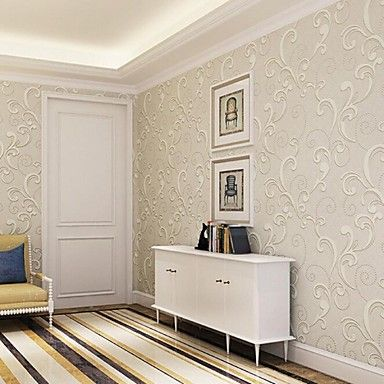 10m*0.53m 3D Pile Coating Thickening Wallpaper Sketchy Breathe Freely  Environmentally Friendly T12 – AUD $ 77.21