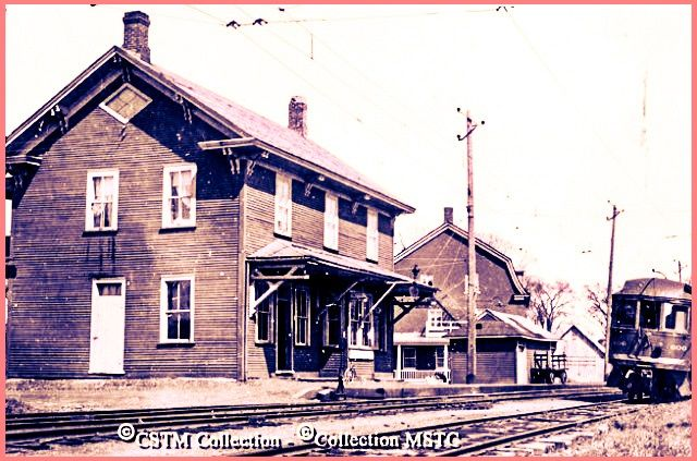 MARIEVILLE, Québec - Montreal & Southern Counties Railway p1955 - Mattingly ed  - Classic Revival style architecture  O L