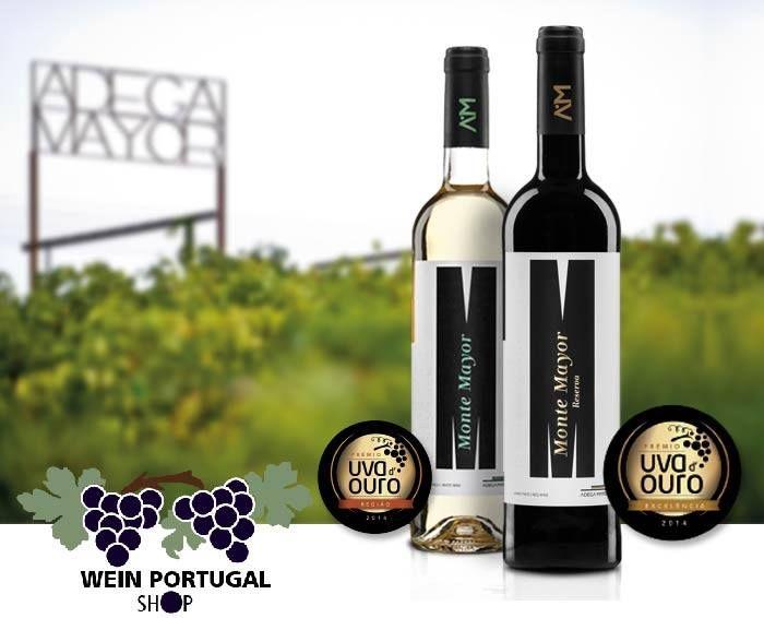 Auszeichnung Uva d'Ouro 2014 für Monte Mayor 2014 White Wine und Monte Mayor Reserva 2014 Red Wine