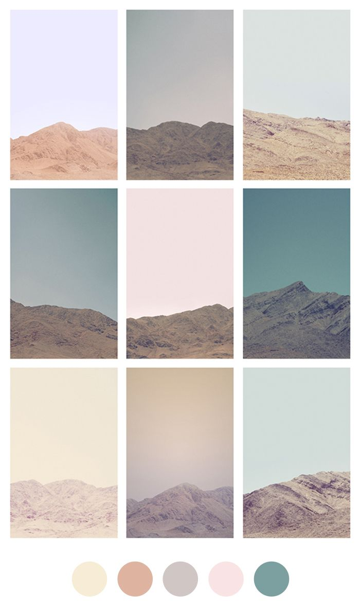 We're going to be looking at colors more along these tones instead of the brights.