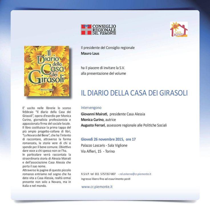 """Il 26 novembre a Torino, in scena il romanzo """"Il diario dei girasoli"""" della giornalista Monica Curino  http://isa-voi.blogspot.com/2015/11/il-26-novembre-torino-in-scena-il.html"""