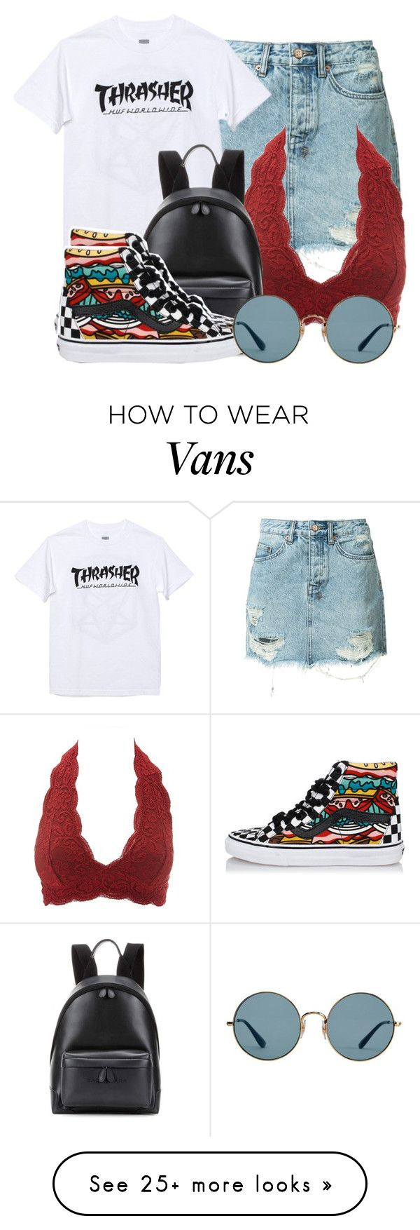 """6/5/2017"" by ashcake-wilson on Polyvore featuring Ksubi, Charlotte Russe, HUF, Balenciaga, Vans and Ray-Ban"