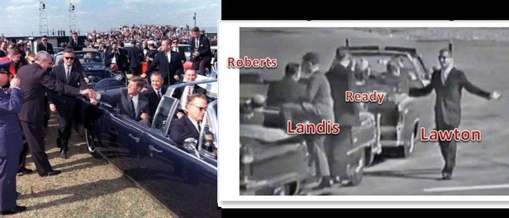 """Agent Don Lawton, who rode on/ near the rear of JFK's limo, right beside the president, in both March 1963 (Chicago) and Tampa (11/18/63, left), recalled by Roberts at Love Field 11/22/63. Lawton told a colleague [as revealed in my new book[ that he """"should have been there"""" on 11/22/63 and lived with much regret. He told me in 1995 """"you always have regret, remorse- who knows: if they had left guys on the car..."""" His voice trailed off. Nothing about JFK """"ordering"""" them off, a myth that has…"""