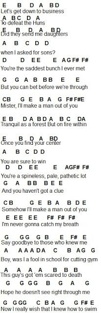 Flute Sheet Music: I'll Make A Man Out Of You 1