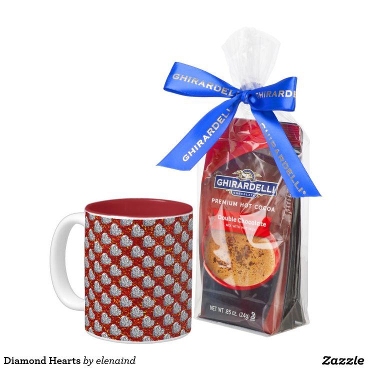 Diamond Hearts Two-Tone Coffee Mug #ZAZZLE