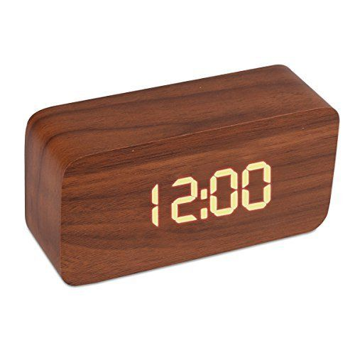 Wood Cuboid Digital Clock Alarm Thermometer Temperature Function Clap On Sound Control Clock (Brown case)  #Alarm #Brown+ #Case #Clap #Clock #Control #Cuboid #Digital #Function #RusticMantelClock #Sound #Temperature #Thermometer #Wood The Rustic Clock