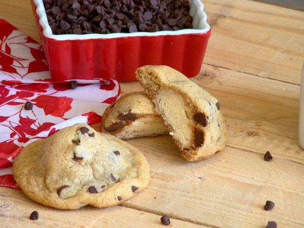 Doughnut Hole Stuffed Chocolate Chip Cookies