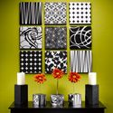 fabric over Styrofoam... the possibilities!: Wall Art, Wall Decor, Black And White, Fabric Wall, Scrapbook Paper, Paper Wall, Craft Ideas, Diy, Design