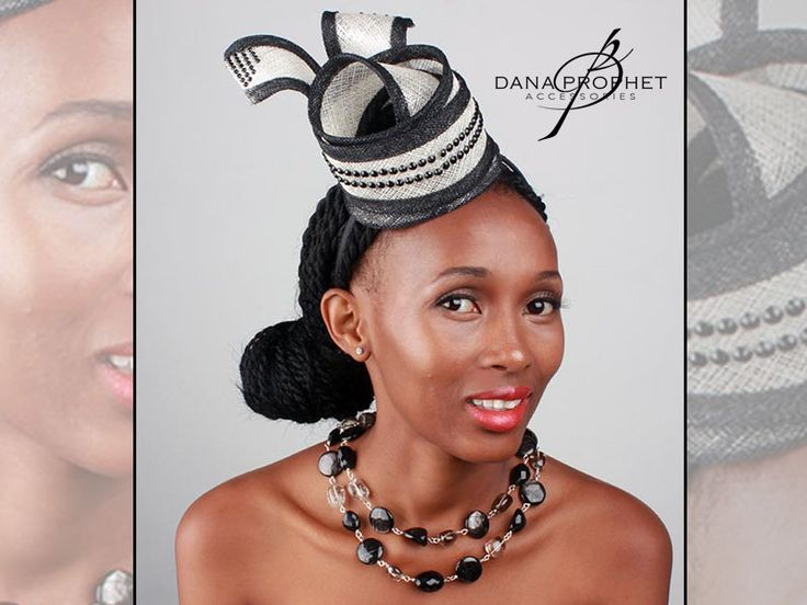Black and white headband fascinator twist with beading. Shown here with black agate and smokey quartz necklace also available. https://danaprophetaccessories.com/fascinators/black-and-white-sinamay-headband-fascinator/  In South Africa? Go to @desch_luxury_wear in Sandton City to see even more fascinators! http://www.desch.co.za   #jewelry #jewellery #fascinator #races #durbanjuly #horserace #southafrica #fashion #style #kentuckyderby #semiprecious #necklace  #trending #royal #sinamay…