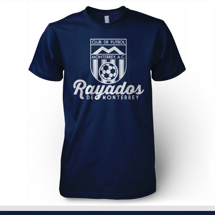 Show your passion for Rayados de Monterrey with this retro style T-shirt, Vamos Pandilla! - 100% Cotton T-Shirt - Seamless double needle 7/8 collar - Taped neck and shoulders - ThermoFlex Soft vinyl p