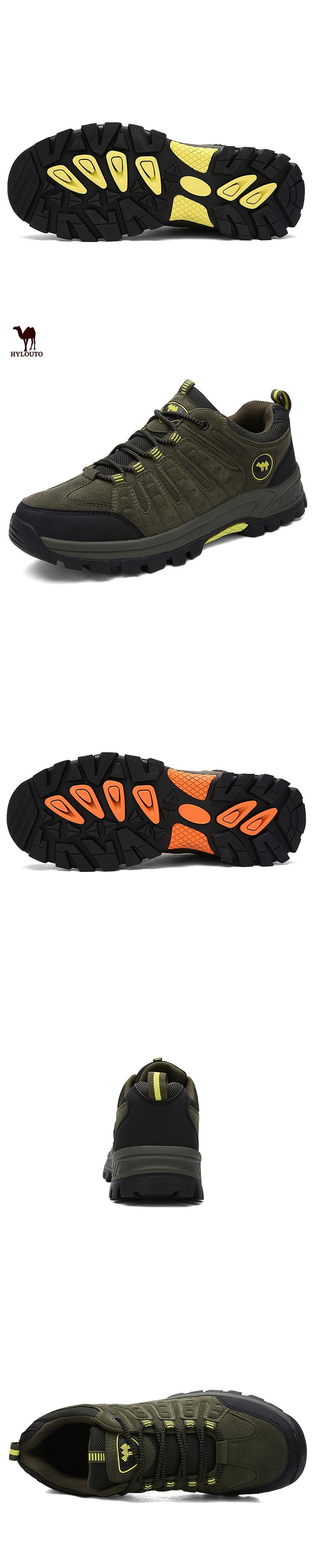 2017 HYLOUTO Men's Outdoor Sports Shoes Breathable Wear-resistant Mountaineering Sports Shoes