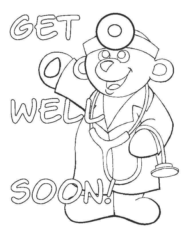 101 best get well soon ideas for kids images on pinterest for Get well soon card coloring pages