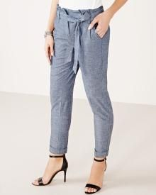 Tapered 7/8 pant in chambray