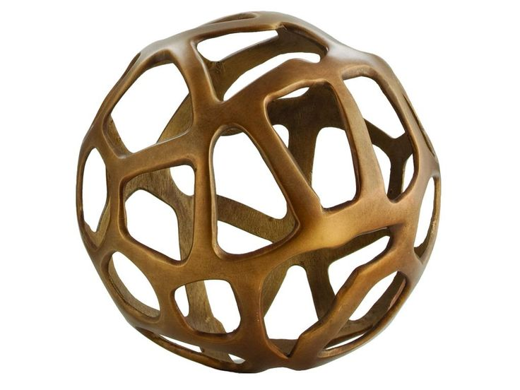 "Dec Acc // Curated Kravet ORBIS SPHERE, 14""D QR-10226.BRONZE.0"