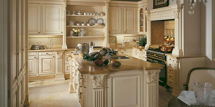 De Siematic Painters Royal Collection (PRC) is een typische landelijke keuken in Renaissance stijl.