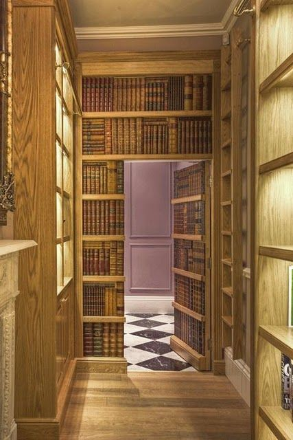 I would love to have a secret room. I think I need to do some form of this in my house.