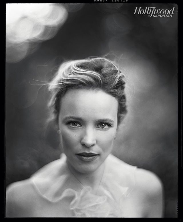 Happiest of birthdays to the beautiful #rachelmcadams thank you for being one of our favorite portrait subjects to date #largeformat #4x5film #blackandwhite