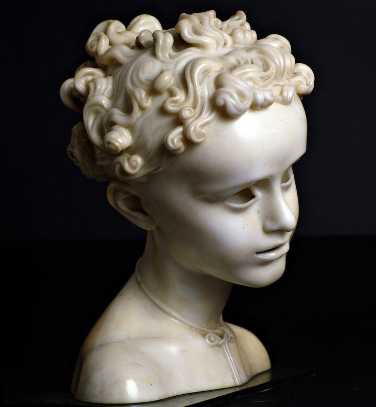 Adolfo Wildt (1868-1931), FILO D'ORO, 1927, marmo, 35  cm
