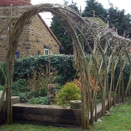 Living Willow Arch from Natural Fencing