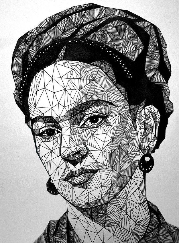 22 Ilustraciones tributo a Frida Kahlo creadas por artistas jóvenes Victoria / lazzzyv.deviantart.com  La artista Ucraniana, Victoria, presenta su obra homenaje a Frida.