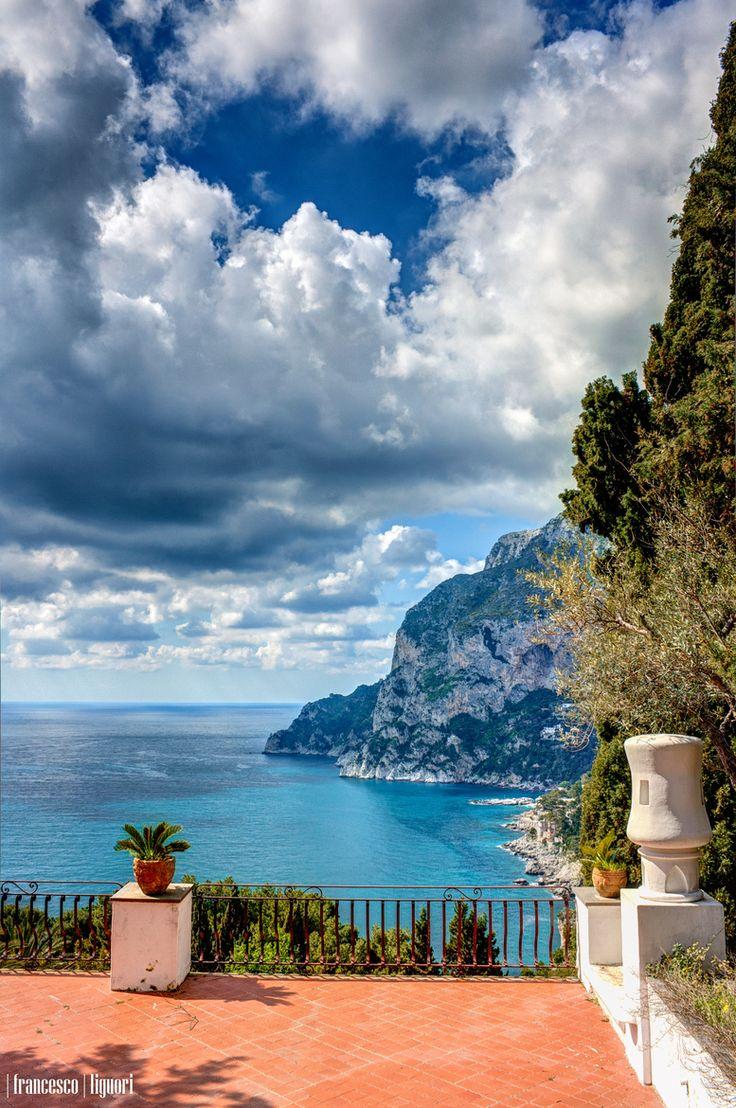 Walking in Capri, Italy