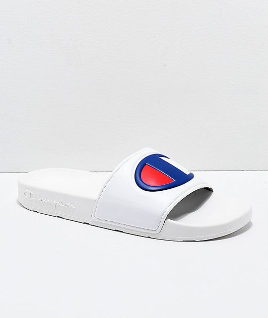 eaac97753735 Champion IPO White Slide Sandals in 2019