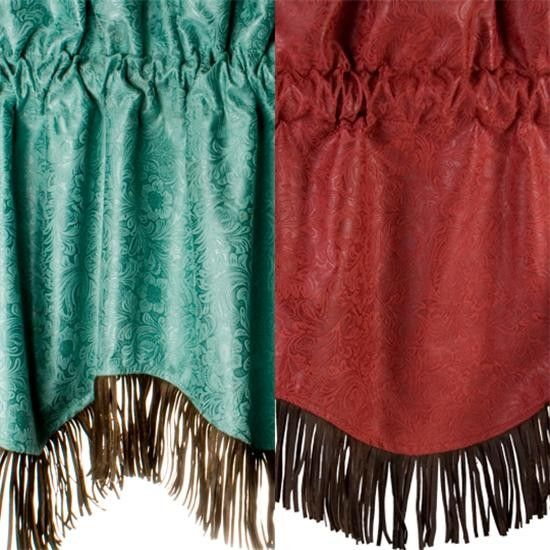 Cheyenne Faux Tooled Leather Window Valance
