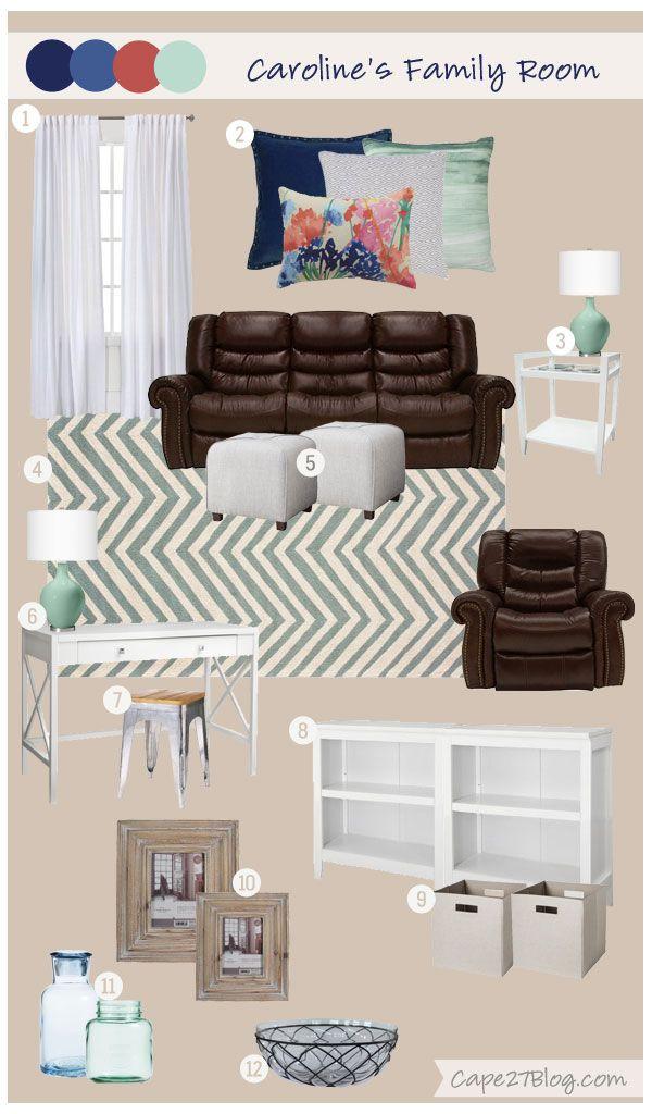 Cape 27 Custom Mood Boards: Caroline's Family Space
