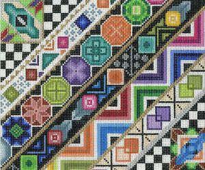 Geometric Stripes by Treglown Designs 13m 8x10 $140 needlepoint canvas