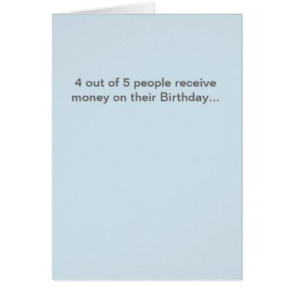 Funny Birthday Card - humor funny fun humour humorous gift idea