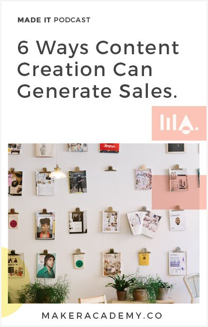 6 Ways Content Creation Can Boost Your Sales! If you're an Etsy Seller or Handmade Business owner you're not going to want to miss this article. Click to read!