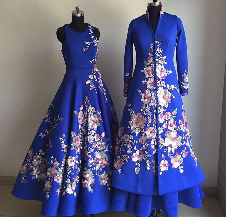Suneet Verma # blue gown # sherwani look # bridal fusion look #