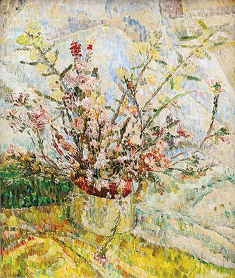GRACE COSSINGTON SMITH Wildflowers in Jug - Grace Cossington Smith is widely remembered as one of Australia's great modernist painters. She is also undoubtedly one of Australia's most loved and significant female artists. Her wonderful depictions of the construction of Sydney Harbour Bridge from the late 1920s are nothing short of iconic and symbolised the coming of a new and modern Australia.