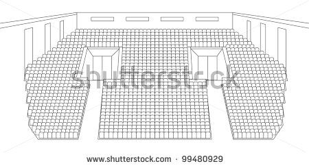 interior of cinema hall plan vector by shooarts, via Shutterstock