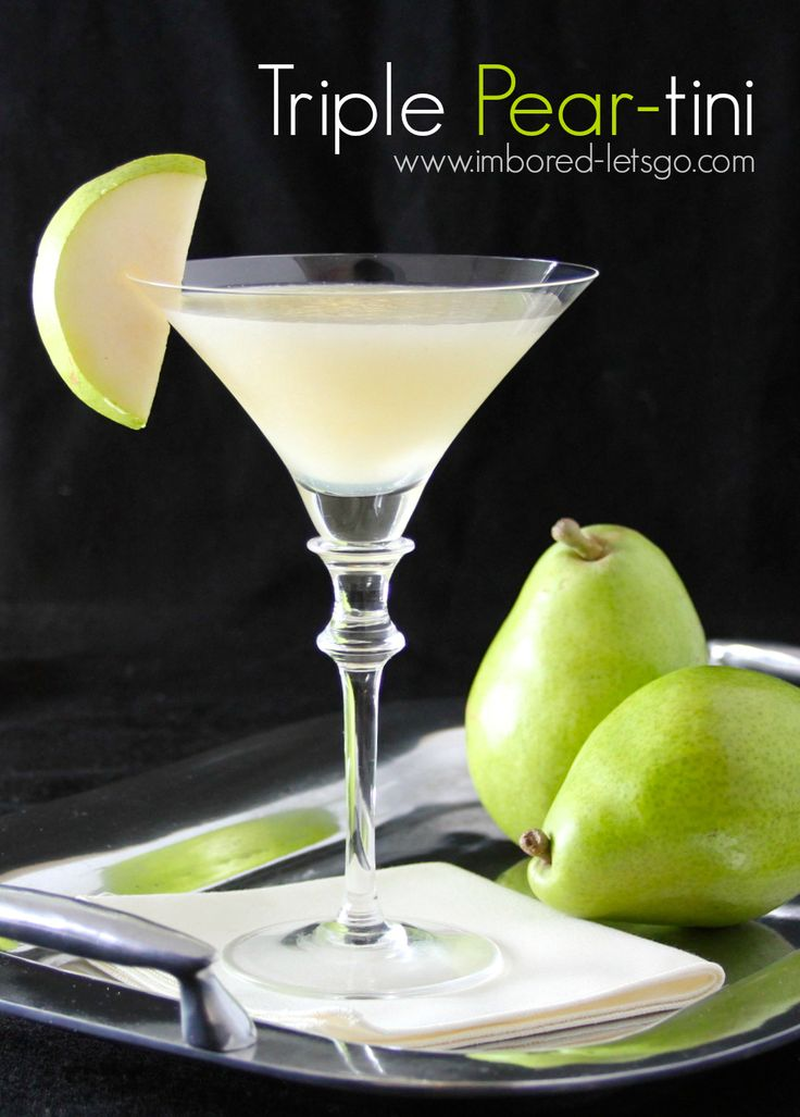 Triple pear tini recipe looking forward vodka and for Pear vodka mixed drinks