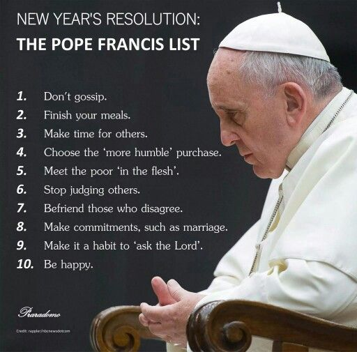 Resolutions-Pope Francis