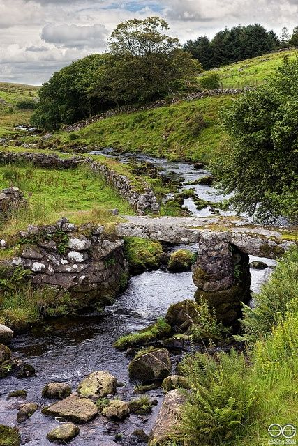 The Oakery Bridge, Dartmoor, Devon, UK - by Sacha Selli