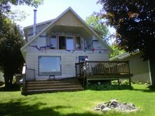 Before photo of cottage reno.  Exterior starting today.  Wait to see the finished look lakeside and roadside.  Stay tuned.