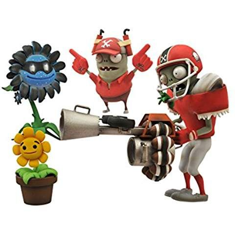 Plants vs. Zombies Select Action Figure: Football Zombie vs. Shadow Flower