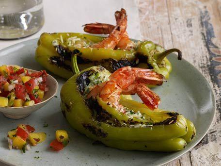 Shrimp-Stuffed Peppers