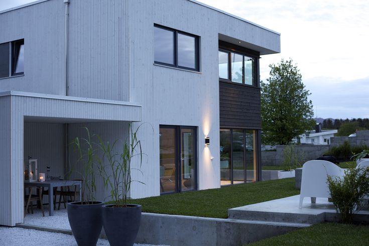 Urbanhus Fasade Sort Hvit Kubistisk Funkisk Uterom