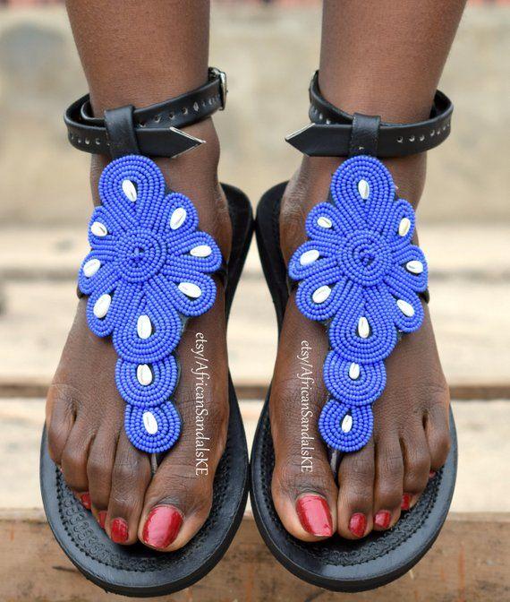 a510b8da8 ON SALE LEATHER Sandals Cute Sandals Women Sandals African | Etsy