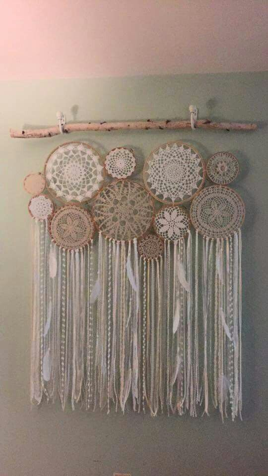 Crochet doily wall piece                                                                                                                                                                                 More