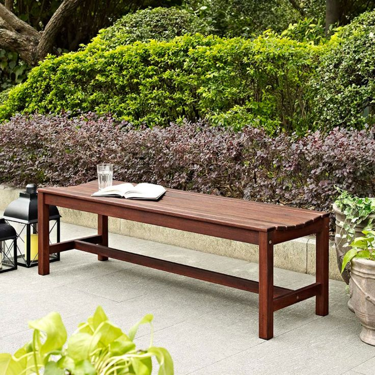 outdoor belham living richmond shorea backless bench with contoured seat 5 ft rb001