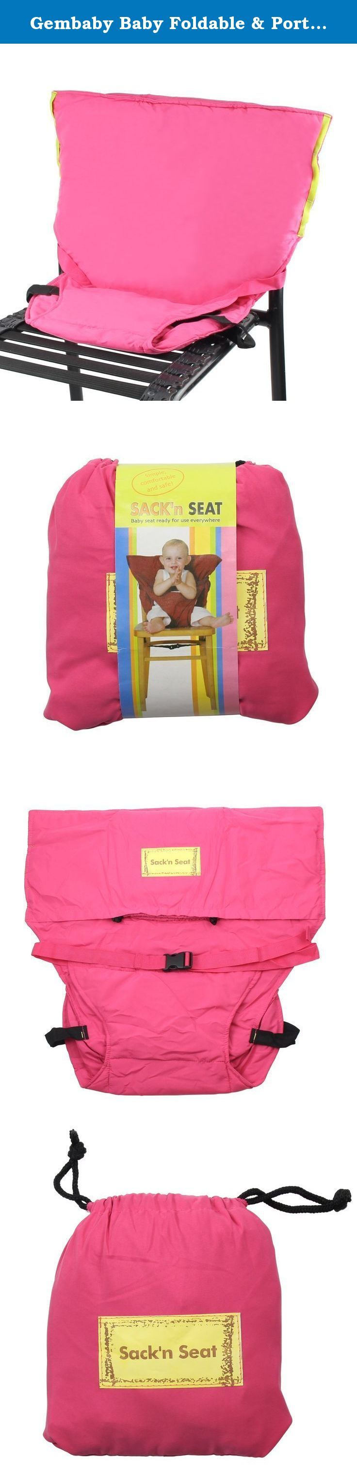 Gembaby Baby Foldable & Portable High Chair Safety Harness Pink