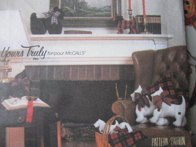 See Sally Sew-Patterns For Less - Scottie Dog Scotty Stuffed Dogs McCall's 2086 Craft Pattern, $9.99 (http://stores.seesallysew.com/scottie-dog-scotty-stuffed-dogs-mccalls-2086-craft-pattern/)