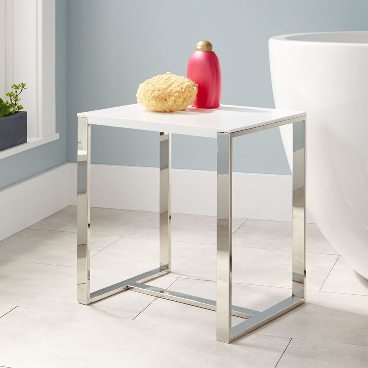 Lovely Stainless Steel Shower Stool