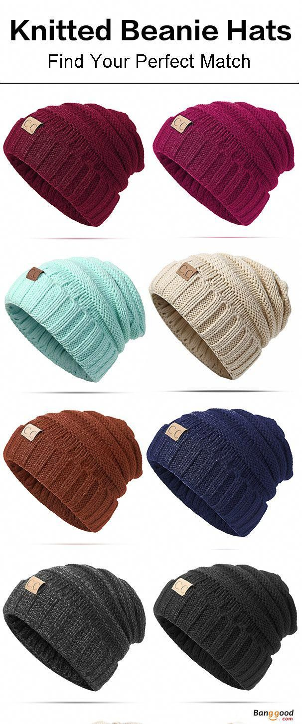88d5586163e2b1 Women Men Warm Soft Knitted Hat Autumn Winter Warm Outdoor Solid Skullies Beanies  Cap. Womens fashion, mens fashion, perfect for fall and winter.