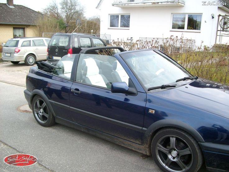 """Hier seht ihr einen VW Golf 3 Cabrio mit dem Seat-Styler Design: """"Berlin"""" in Leder-Optik   #VW #Golf #3 #Cabrio #Design #Berlin #Konfigurator #Lederimitat #Zacasi #Autositzbezüge"""