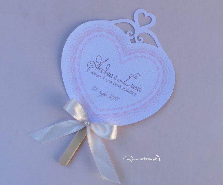 Ventaglio per cerimonia Matrimonio, Battesimo, comunione... by Romanticards, by Romanticards e Little Rose Handmade, 1,20 € su misshobby.com